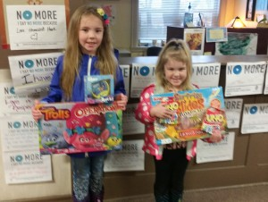 Juliet and Claire Toy Donation 3.30.17