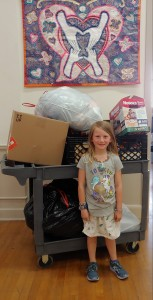 For seven-year-old Sidney's birthday, instead of asking for gifts for herself, she asked her friends and family to donate items to our clients and thrift shop.