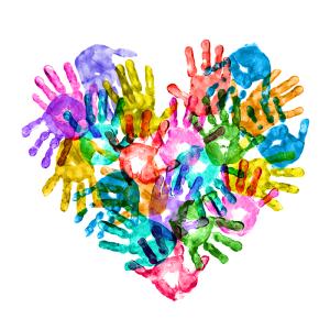 childrens hands heart sm